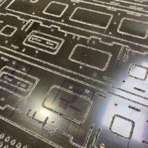 A CNC routed aluminium composite panel