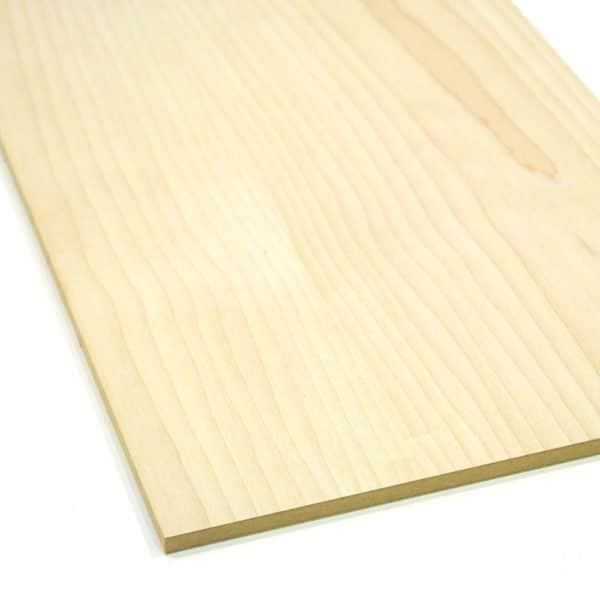maple veneered mdf board on a white background