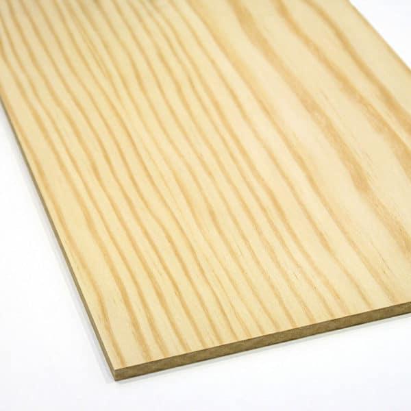 pine veneer MDF on a white background