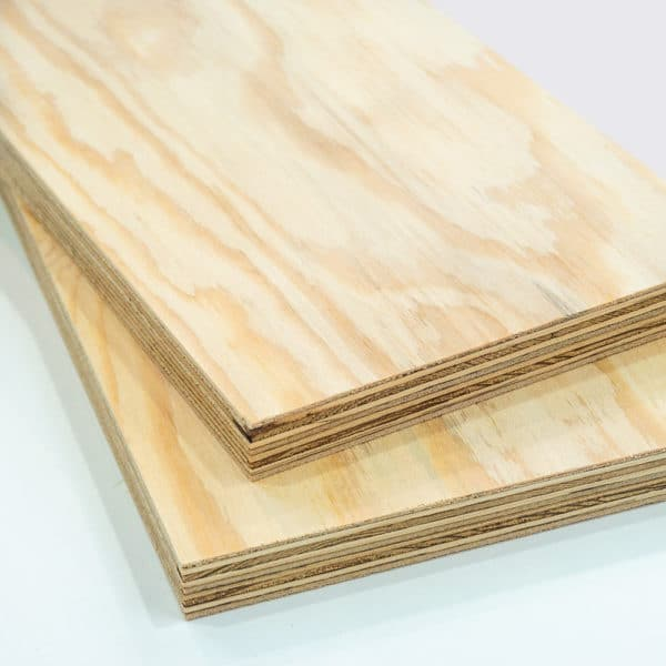 2 pieces of softwood plywood cut to size and stacked on top of each other