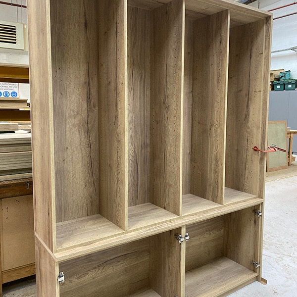 Oak Effect Melamine shelving unit
